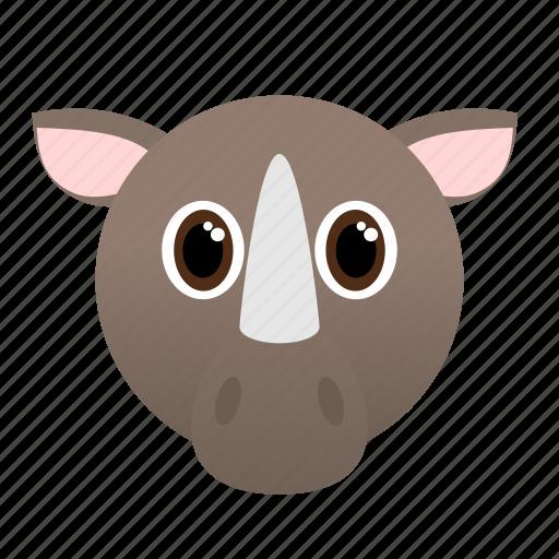 Africa, animal, rhino, wild icon - Download on Iconfinder