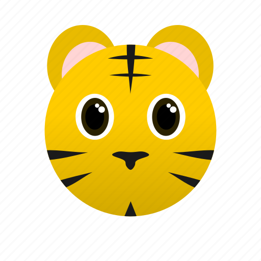 Animal, face, tiger, wild, yellow icon - Download on Iconfinder