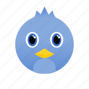 animal, bird, blue, face, wild icon