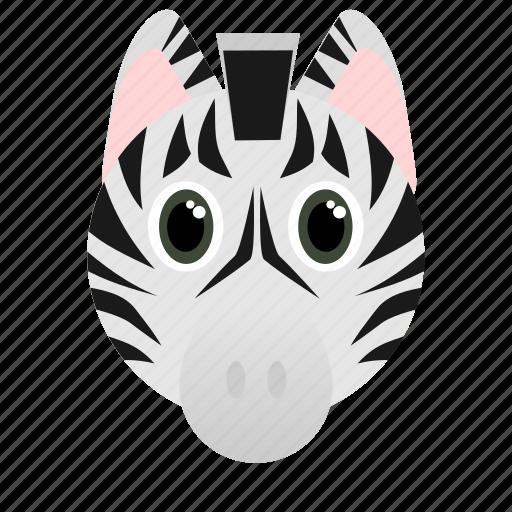 Animal, dark, face, white, wild, zebra icon - Download on Iconfinder