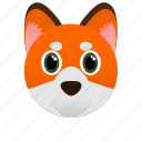 animal, face, fox, orange, wild icon