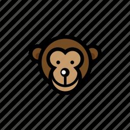 animals, monkey, pets, zoo icon
