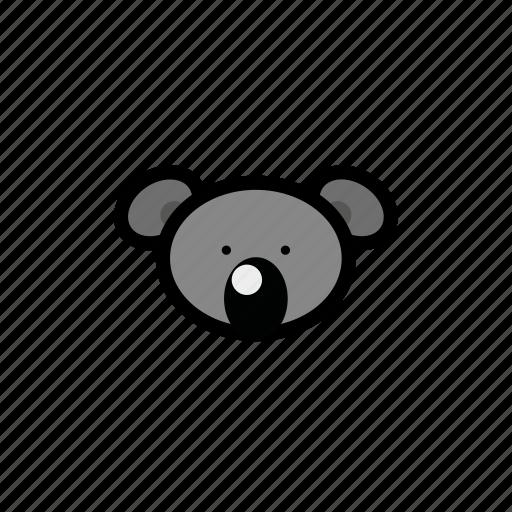 animals, koala, pets, zoo icon