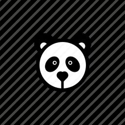 animals, panda, pets, zoo icon