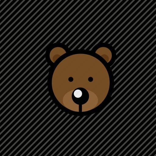 animals, bear, brown bear, pets, zoo icon