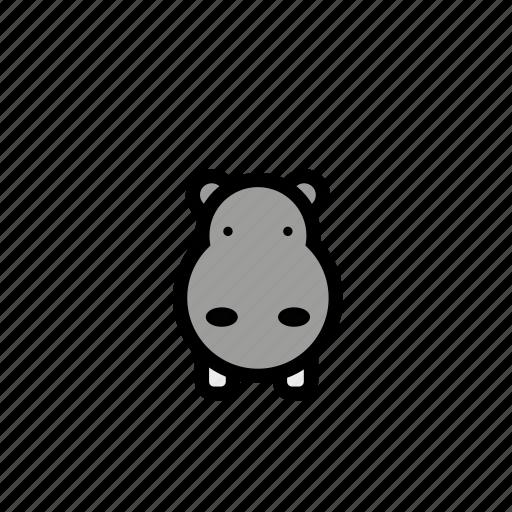 animals, hippo, pets, zoo icon