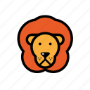 animals, lion, pets, zoo icon