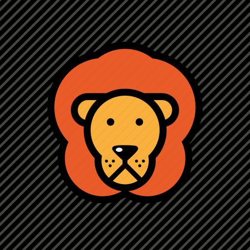 animals, lion, pets, zoo icon