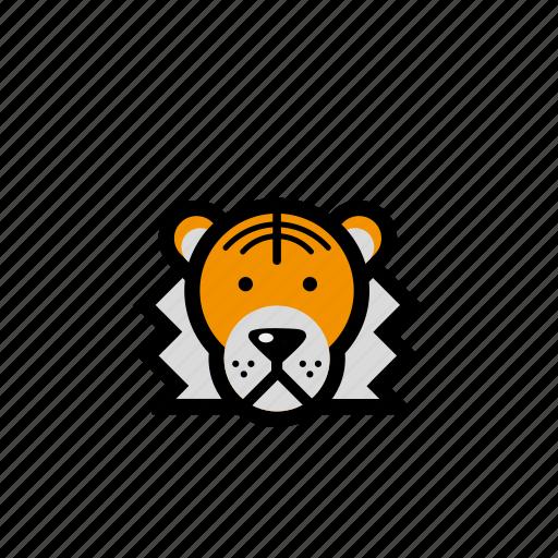 animals, pets, tiger, zoo icon