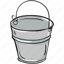 bucket, container, pail, sand pail, water pail icon