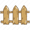barrier, fence, garden fence, hurdle, picket fence icon