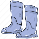 ankle boots, high boots, high shoes, long boots, winter boots icon