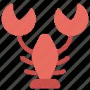animals, food, lobster, nature, seafood icon