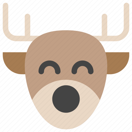 animals, christmas, deer, holidays, nature, reindeer, rudolph icon