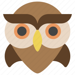 animals, bird, education, halloween, nature, owl, wisdom icon