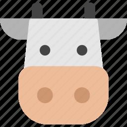 agriculture, animals, cow, farm, milk, nature icon