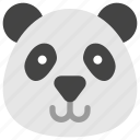 animals, bear, face, head, nature, panda icon