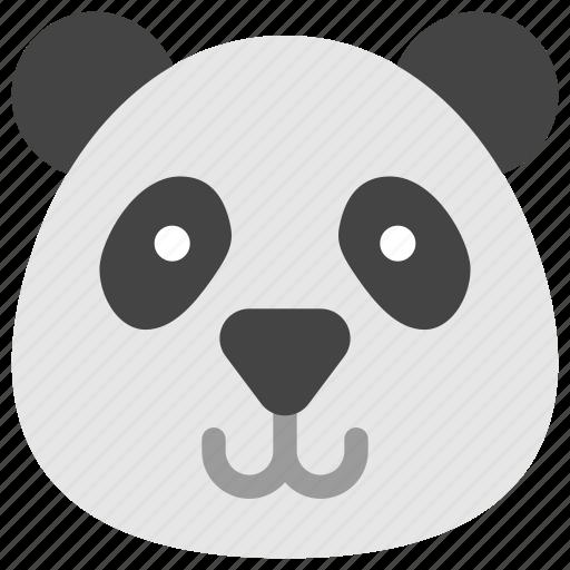 animals, bear, face, head, nature, panda icon