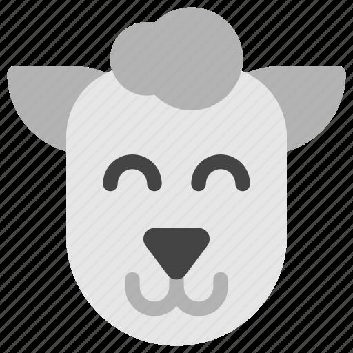 animals, face, farm, head, lamb, sheep, wool icon