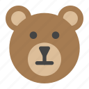 animals, baby, bear, nature, toy icon