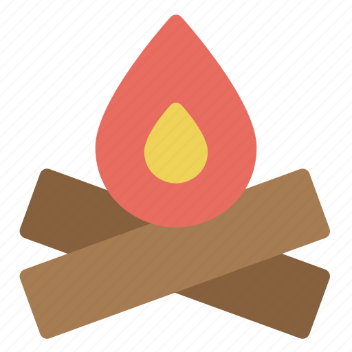 fire, fireplace, flame, nature, travel, wood icon