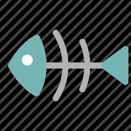 bones, fish, fishbone, food, sea, seafood, skeleton icon