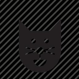 animal, cat, face, pet icon