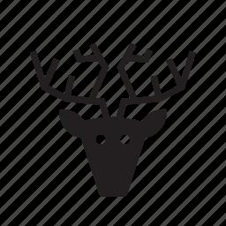 animal, caribou, deer, hunting trophy, pet, reindeer icon