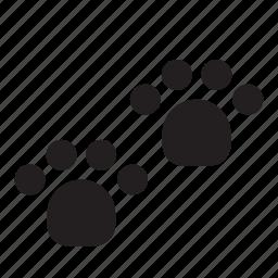 animal, bear, dog, footprint, footprints, pet, track icon