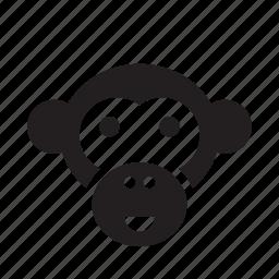 animal, ape, chimpanzee, monkey, pet icon