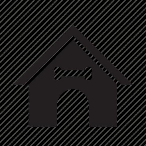animal, bone, dog, doghouse, garden, house, pet icon