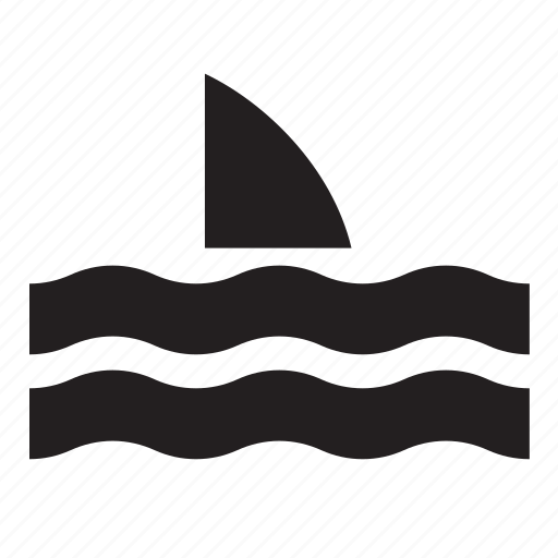 animal, fin, ocean, sea, shark, water icon