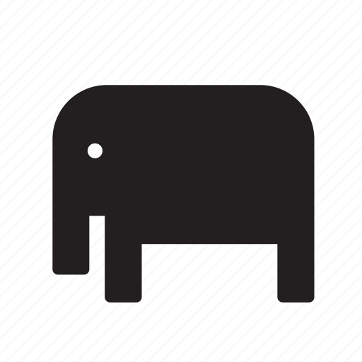 africa, african, animal, elephant, zoo icon
