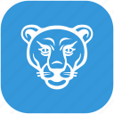 animal, blue, form, rounded, tiger, zoo icon