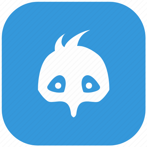 baby, blue, chicken, form, head, rounded icon