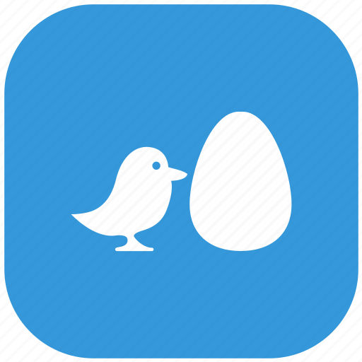 baby, bird, blue, chicken, egg, form, rounded icon
