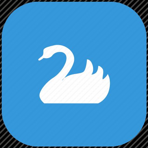 bird, nature, swan, zoo icon