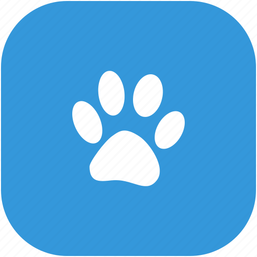 animal, footstep, trail, zoo icon