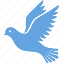 bird, columbidae, dove, fly, flying, peace, wings icon