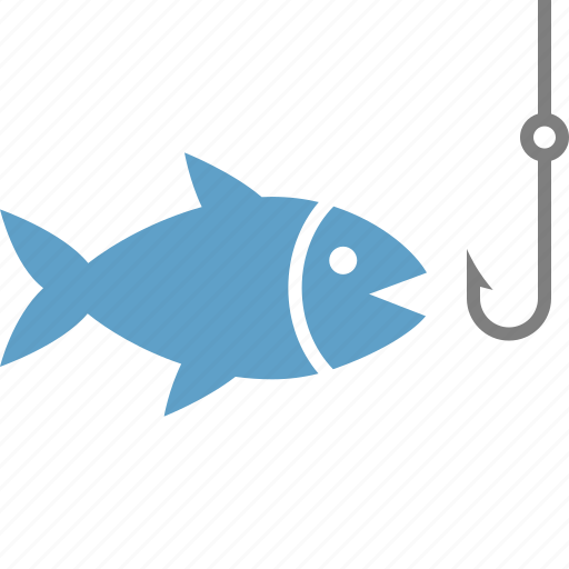 bait, catch, fish, fishing, hook, lure, seafood icon