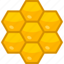 cells, comb, golden, hexagonal, honey, honeycomb, pattern icon