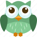 animal, bird, forest, owl, pet, sky, wild icon