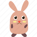 animal, carrot, cute, pet, rabbit, rodents icon