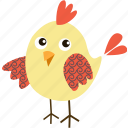 animal, bird, chicken, food, meal, restaurant icon