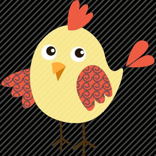 animal, bird, chicken, food, meal, restaurant icon