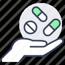 hand, pill, tablet, drug, pharmacy, capsule