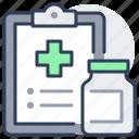 medical, prescription, clipboard, bottle, drug, pharmacy