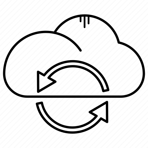 arrow, cloud, download, sync, upload icon