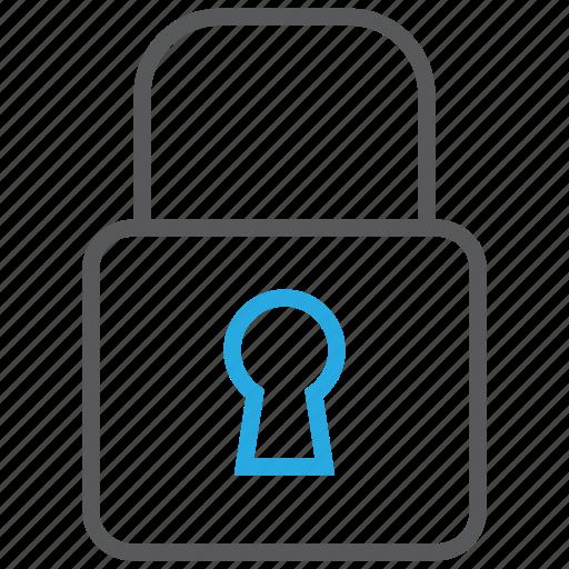 access, denied, key, lock, padlock, privacy, safe icon
