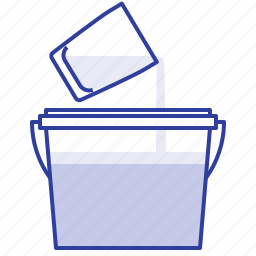 container, dilute, glue, jar icon